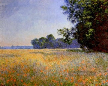 Oat and Poppy Field Claude Monet