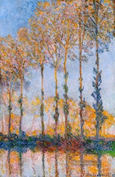 Claude Monet Werke - Poplars White and Yellow Effect Claude Monet