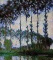 Poplars on the Banks of the River Epte Overcast Weather Claude Monet