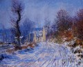 Straße nach Giverny im Winter Claude Monet