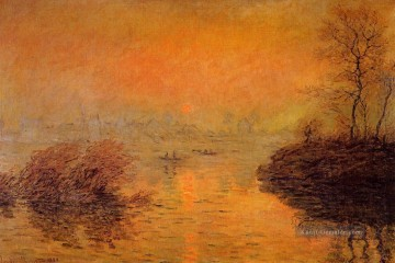 Sunset on the Seine at Lavacourt Winter Effect Claude Monet