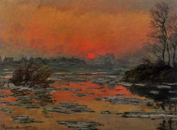 Sunset on the Seine in Winter Claude Monet