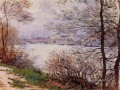 The Banks of the Seine Ile de la GrandeJatte Claude Monet