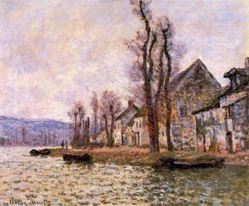 Winter Galerie - die Biegung der Seine bei Lavacourt Winter Claude Monet