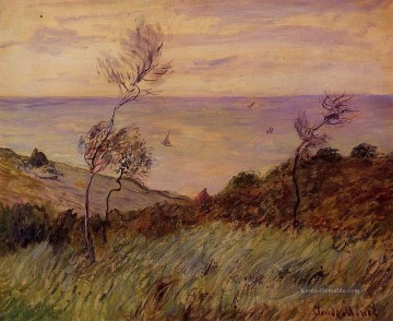 Claude Monet Werke - The Cliffs of Varengeville Gust of Wind Claude Monet