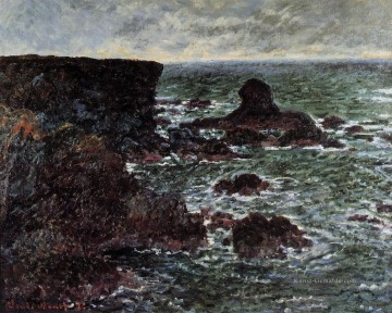 der Lion Rock BelleIleenMer Claude Monet Ölgemälde