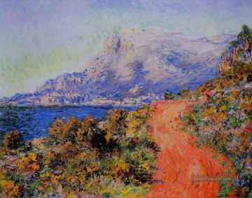 The Red Road in der Nähe von Menton Claude Monet Ölgemälde