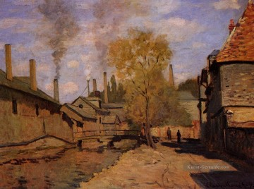 Claude Monet Werke - The Robec Stream Rouen aka Factories at Deville near Rouen Claude Monet