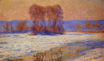 Winter Galerie - die Seine bei Bennecourt im Winter Claude Monet