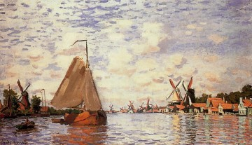 Claude Monet Gemälde - The Zaan at Zaandam Claude Monet