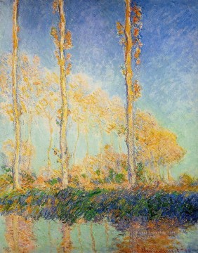 Claude Monet Werke - Three Poplar Trees in the Autumn Claude Monet