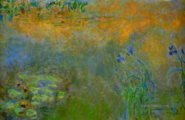 Water Lily Pond with Irises Claude Monet