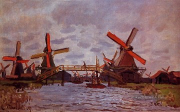 Claude Monet Werke - Windmill near Zaandam Claude Monet