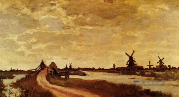 Claude Monet Werke - Windmills at Haaldersbroek Zaandam Claude Monet