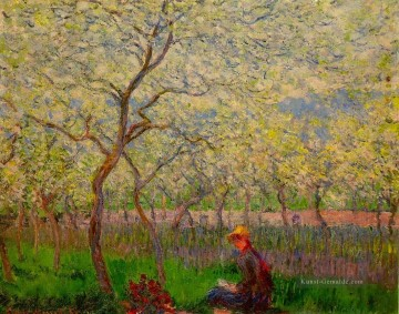 Claude Monet Gemälde - An Orchard in Spring Claude Monet