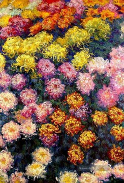 Bed Chrysanthemen Claude Monet Ölgemälde