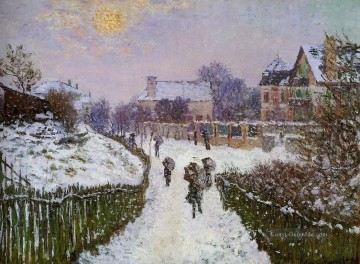 Claude Monet Werke - Boulevard St Denis Argenteuil Snow Effect Claude Monet