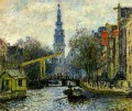 Kanal in Amsterdam Claude Monet