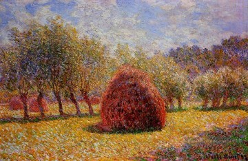 Claude Monet Werke - Haystacks at Giverny 1895 Claude Monet