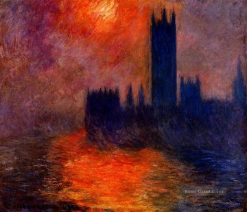 Houses of Parliament Sonnenuntergang II Claude Monet Ölgemälde