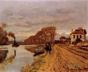 River Galerie - Infanterie Guards Wandering entlang des Flusses Claude Monet