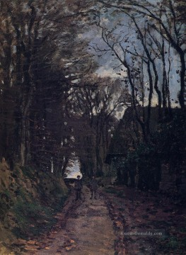 Lane in der Normandie Claude Monet Ölgemälde
