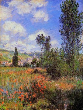 Lane in der Poppy Fields Ile Saintmartin Claude Monet Ölgemälde