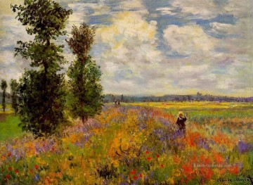Claude Monet Gemälde - Poppy Field Argenteuil Claude Monet