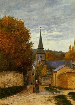 claude Ölgemälde - Straße in SaintAdresse Claude Monet