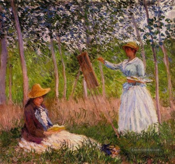Giverny Galerie - Suzanne Lesung und Blanche Malerei vom Marsh in Giverny Claude Monet