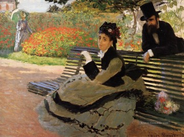 The Strand aka Camille Monet on a Garden Bench Claude Monet