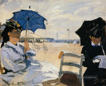 The Strand at Trouville Claude Monet