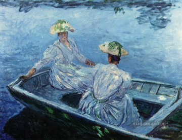 The Blue Row Boat Claude Monet
