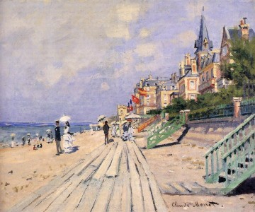 Claude Monet Gemälde - The Boardwalk at Trouville Claude Monet