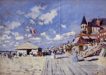 Claude Monet Werke - The Boardwalk on the Strand at Trouville Claude Monet