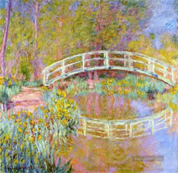 monet seerosen Ölbilder verkaufen - The Bridge in Monet s Garden Claude Monet