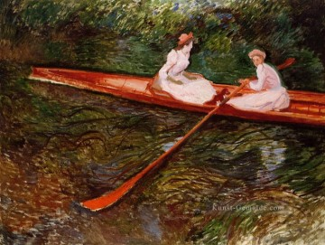 The Pink Skiff Claude Monet