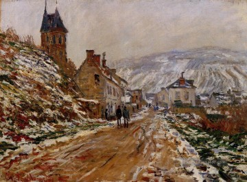 Der Weg in Vetheuil im Winter Claude Monet Ölgemälde