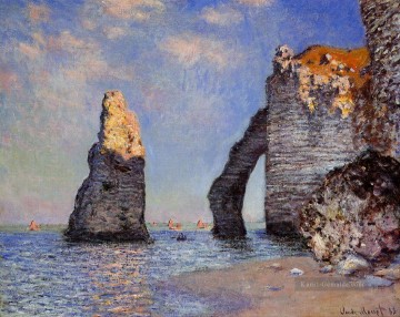 The Rock Nadel und der Porte d Aval Claude Monet Ölgemälde