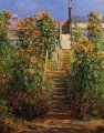 The Steps at Vetheuil Claude Monet