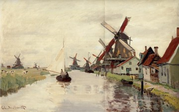Windmühlen in Holland Claude Monet Ölgemälde