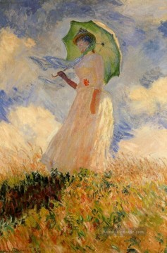 Claude Monet Gemälde - Woman with a Parasol Claude Monet