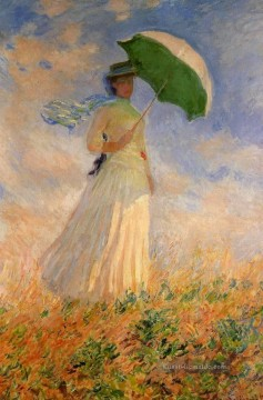 Woman with a Parasol Facing Right Claude Monet