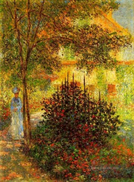 monet seerosen Ölbilder verkaufen - Camille Monet in the Garden at the House in Argenteuil Claude Monet