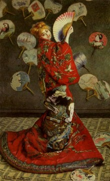 monet seerosen Ölbilder verkaufen - Camille Monet in Japanese Costume Claude Monet