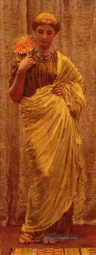 Joseph Malerei - The Gilded Fan weibliche Albert Joseph Moore Figuren