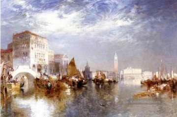 Boot Ölgemälde - Glorious Venedig Boot Thomas Moran