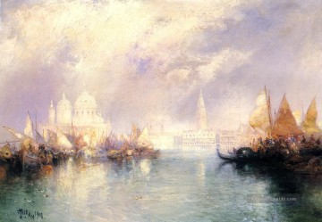 The Church of Santa Maria della Salute Venedig Seestück Thomas Moran