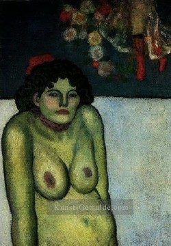 Pablo Picasso Werke - Femme nue assise 1899 Pablo Picasso