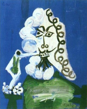 Pablo Picasso Werke - Homme Assis la pipe 1968 Pablo Picasso